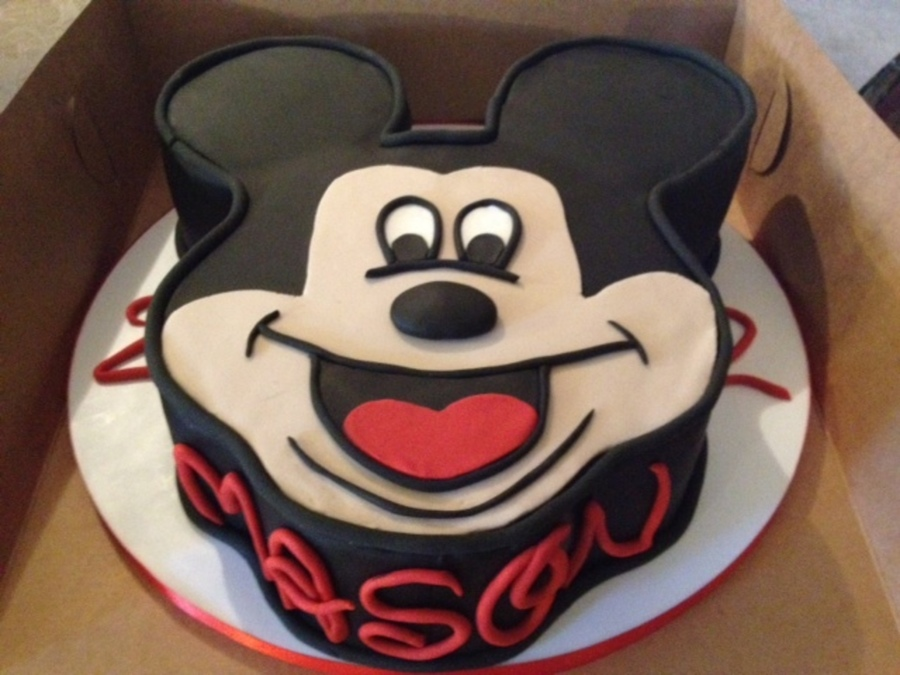 Mickey Mouse Head/face  on Cake Central
