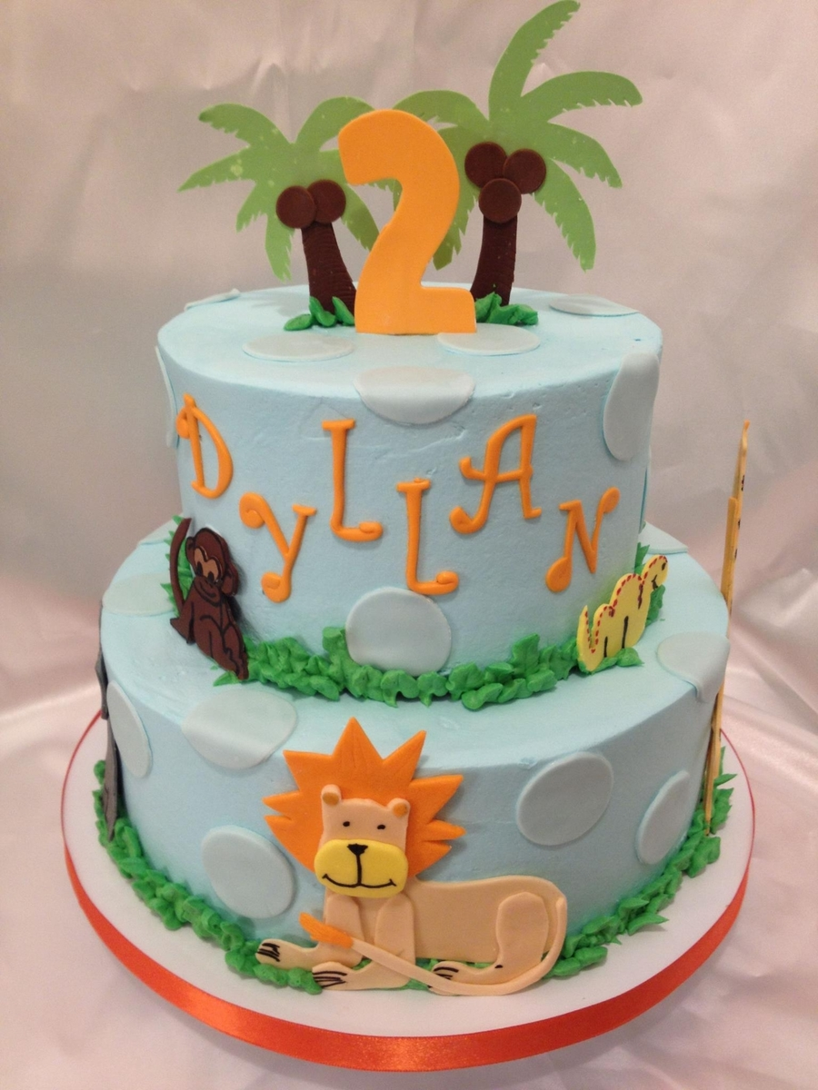 Jungle Theme Birthday on Cake Central