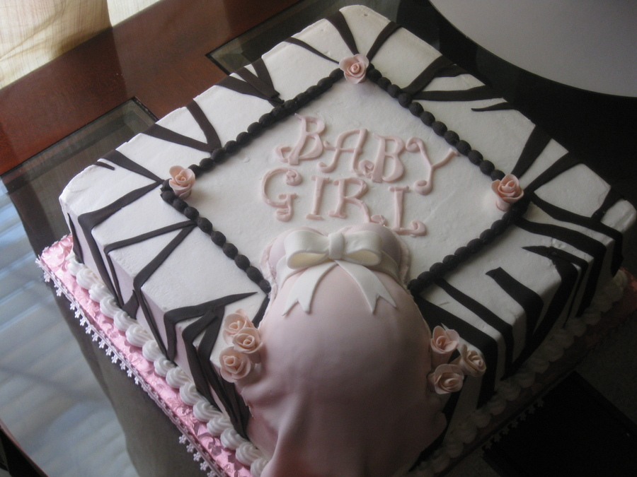 Baby Shower Cakes With Zebra Stripes ~ Zebra stripe baby shower cakecentral