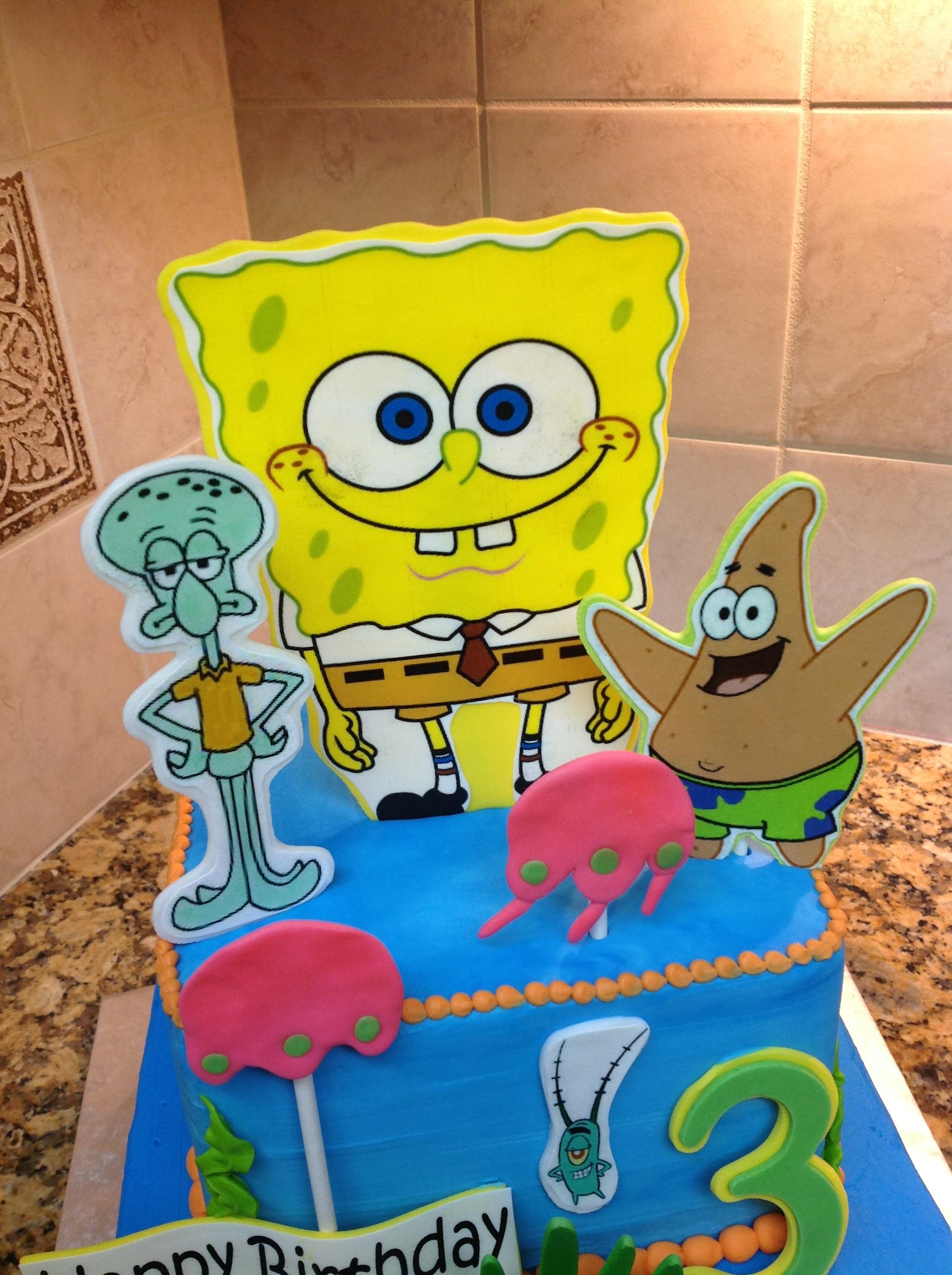 Spongebob Squarepants Character Cake - CakeCentral.com