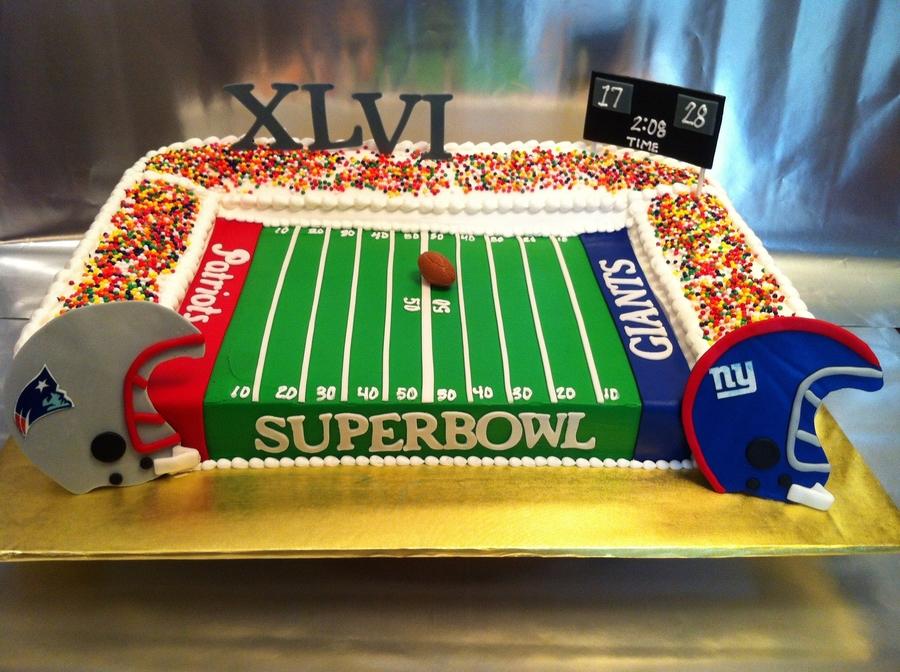 Super Bowl Xlvi Stadium Cake Cakecentral Com