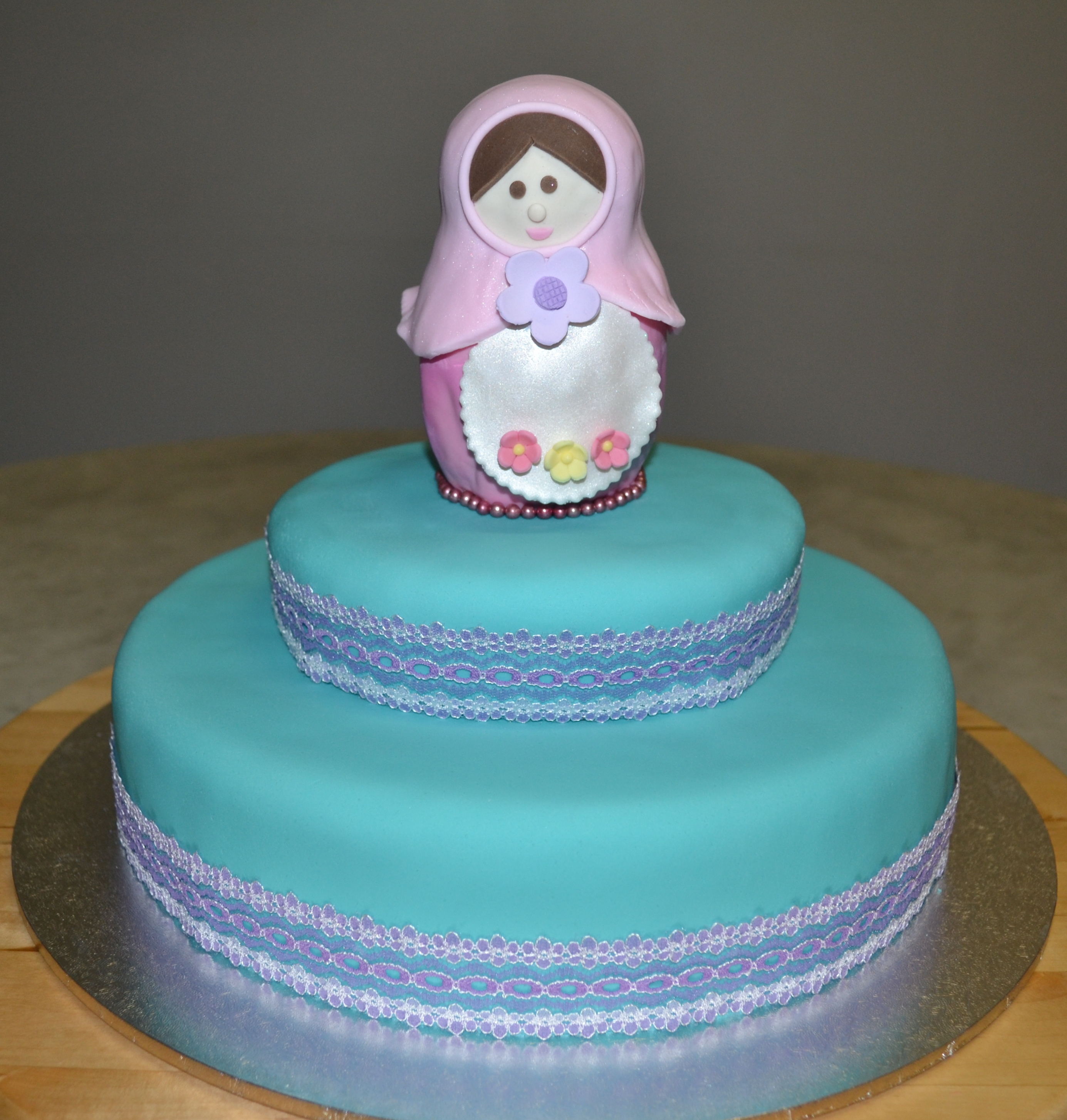 Babushka Doll Is Red Velvet With Fondant Cake Is White Chocolate Mud Cake With Bc on Cake Central