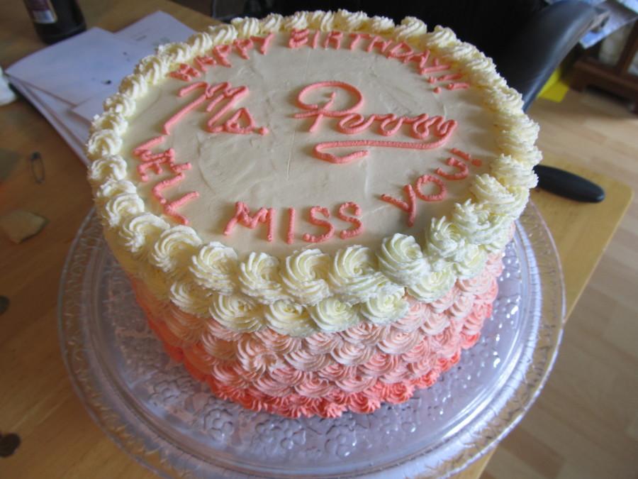 Combination Happy Birthdayfarewell Cake For The Student