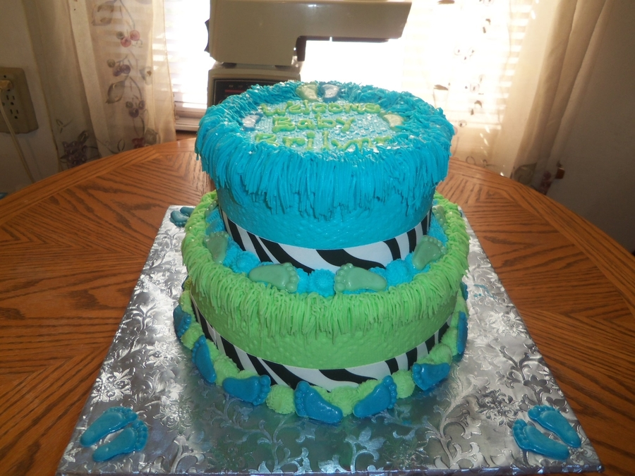 Zebra Baby Shower Cake on Cake Central