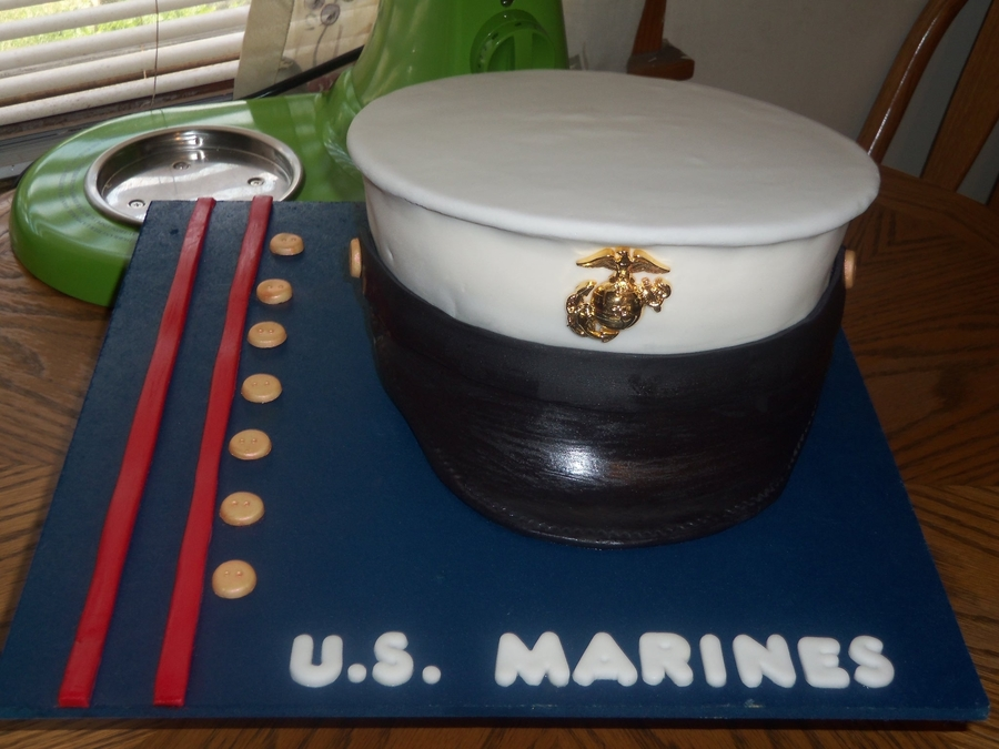 Us Marines Hat on Cake Central