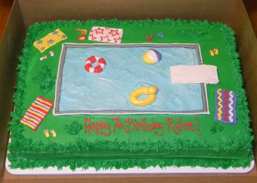 Pool Party Birthday on Cake Central