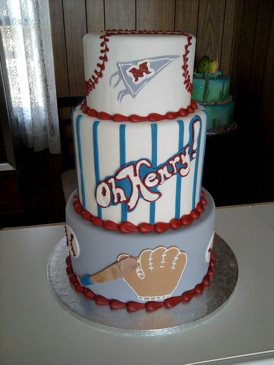 Baseball Themed Baby Shower on Cake Central