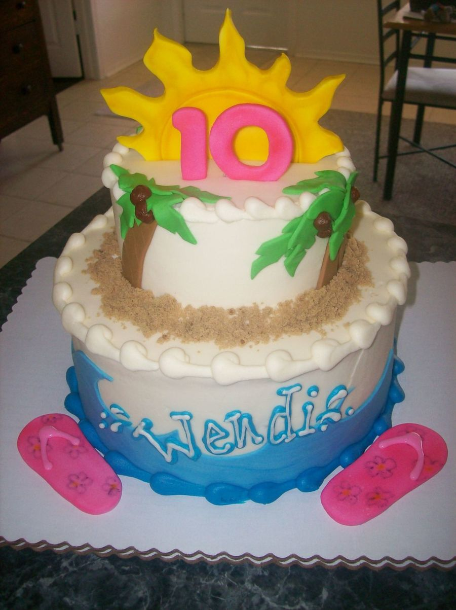 Wendi's Beach Cake on Cake Central