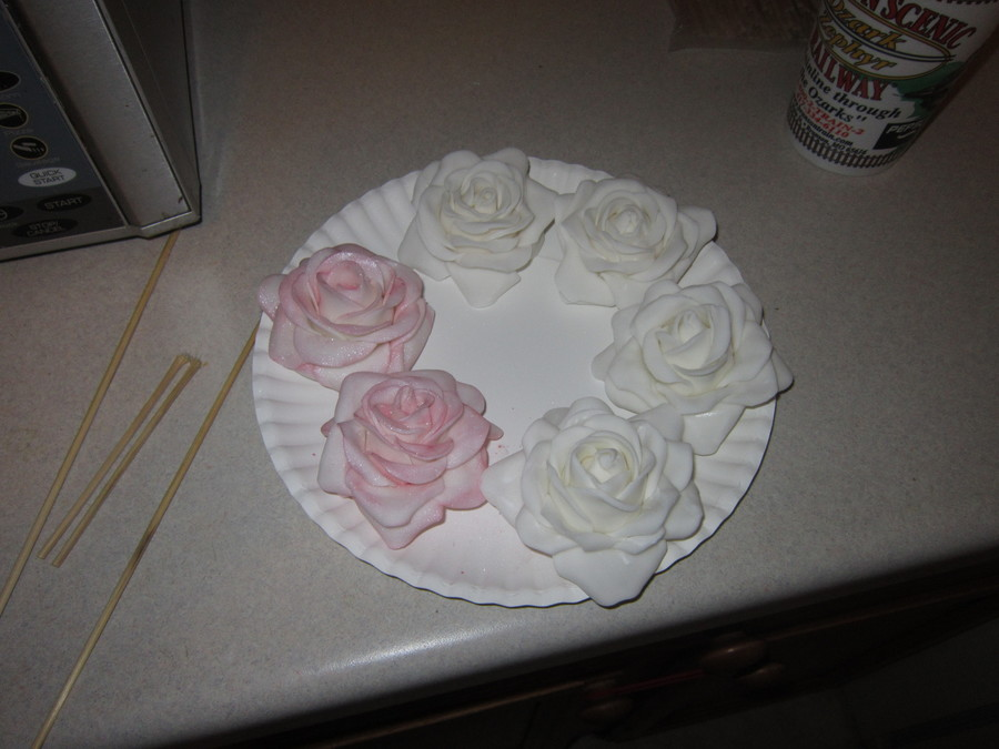 These Are My First Fondant Roses And I Absolutly Loved How They Turned Out They Were For My Cousins Wedding I Dont Have Any Pics Of The Fi... on Cake Central