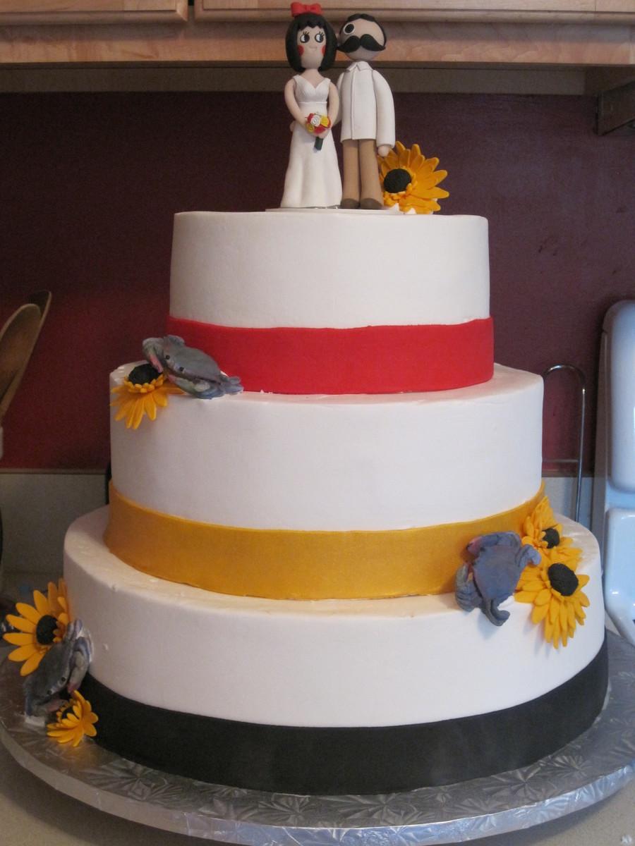 Maryland Themed Wedding Cake