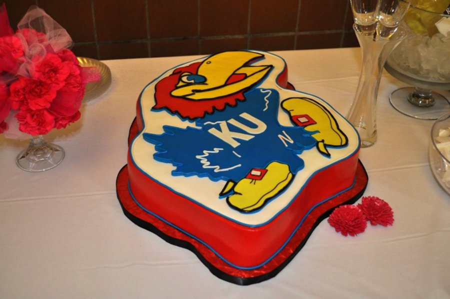 Jayhawk Groomscake on Cake Central