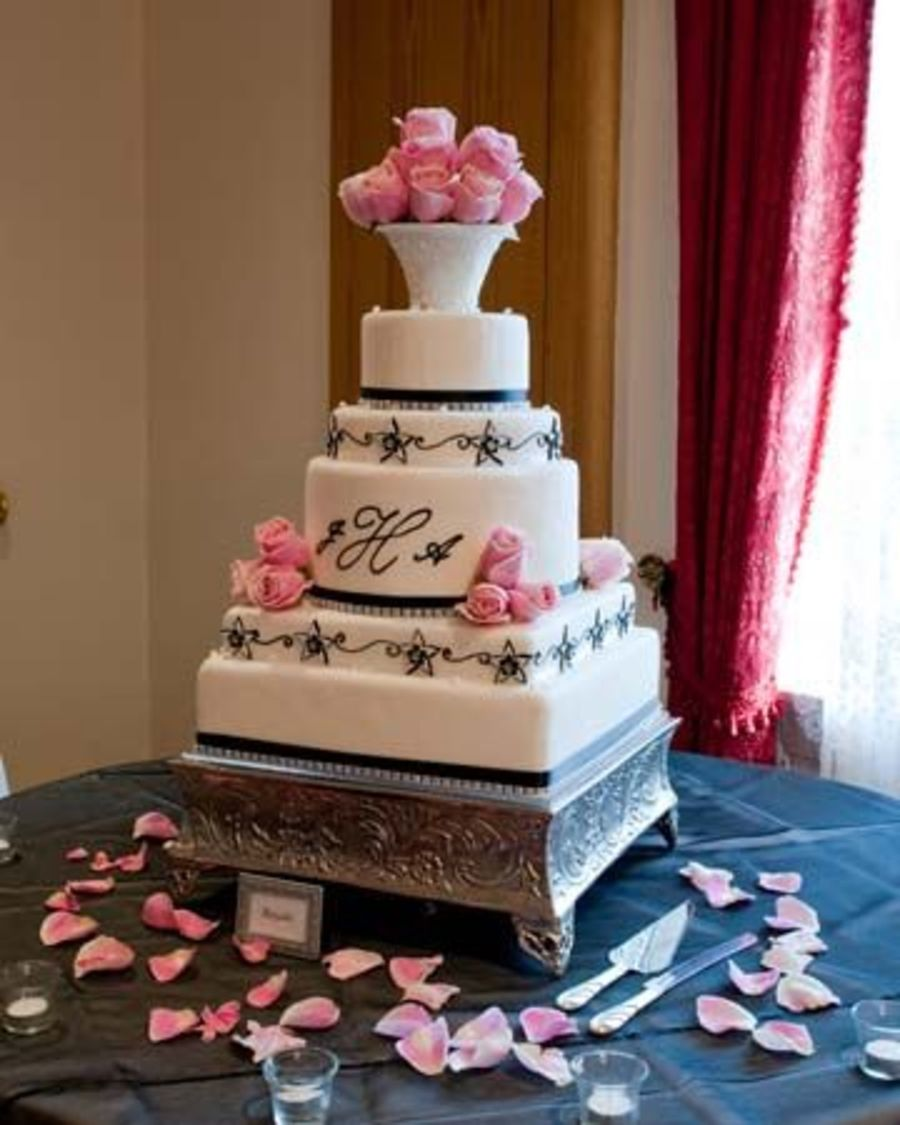 Black And White Wedding Cake on Cake Central