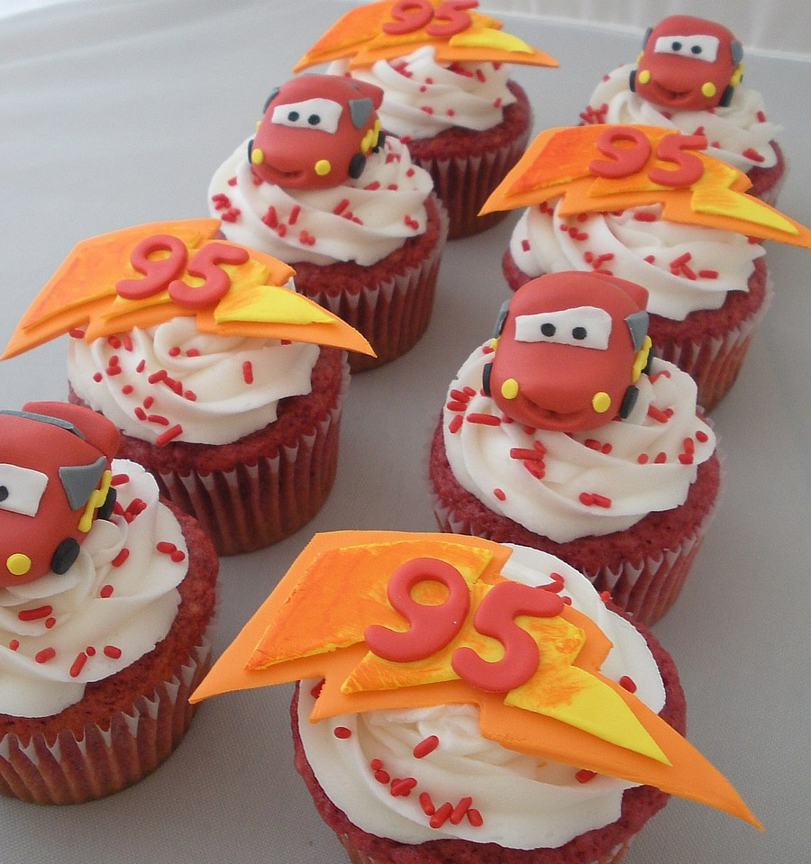 Lightning Mcqueen Cupcakes on Cake Central
