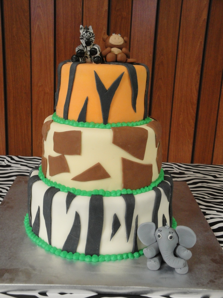 Baby Shower Jungle Cake on Cake Central