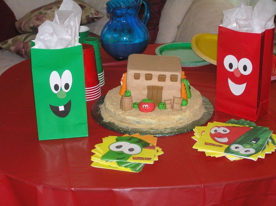 Veggie Tale Cake  on Cake Central