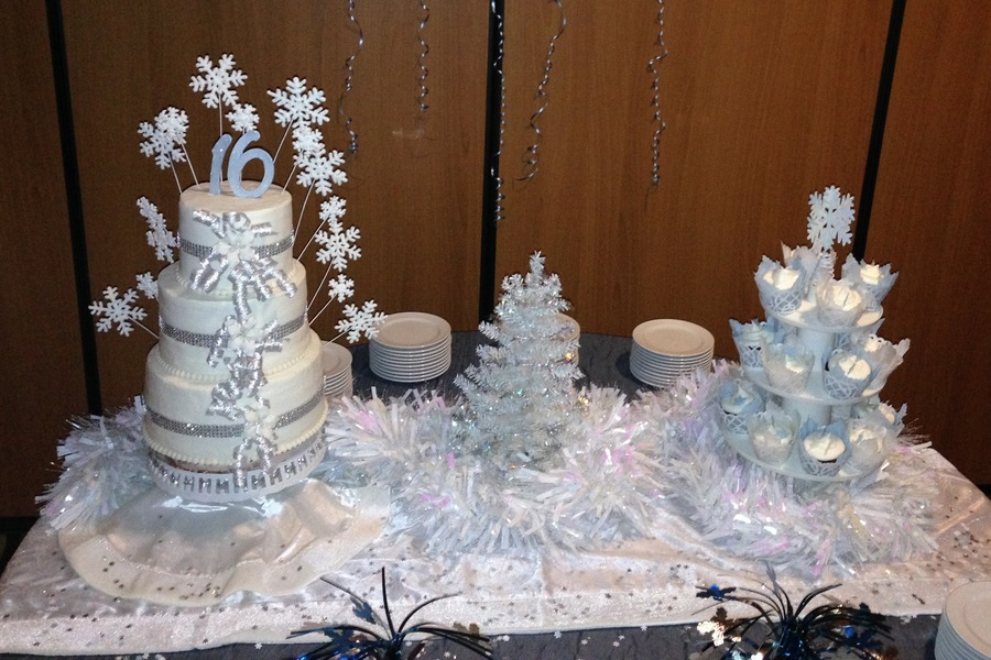Sweet 16 Winter Wonderland CakeCentralcom