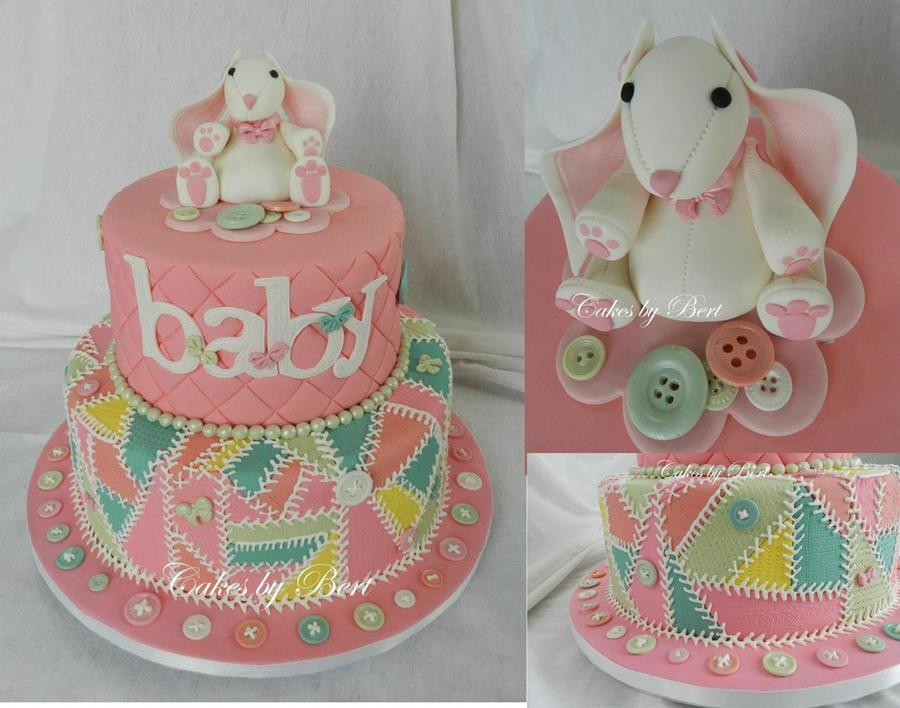 Patchwork Quilt Baby Shower on Cake Central