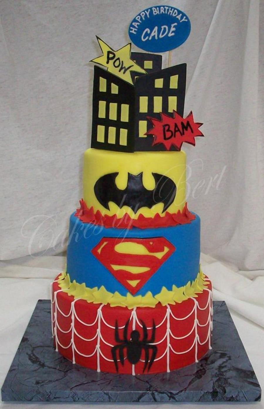 Cade S Super Hero Cake Cakecentral Com