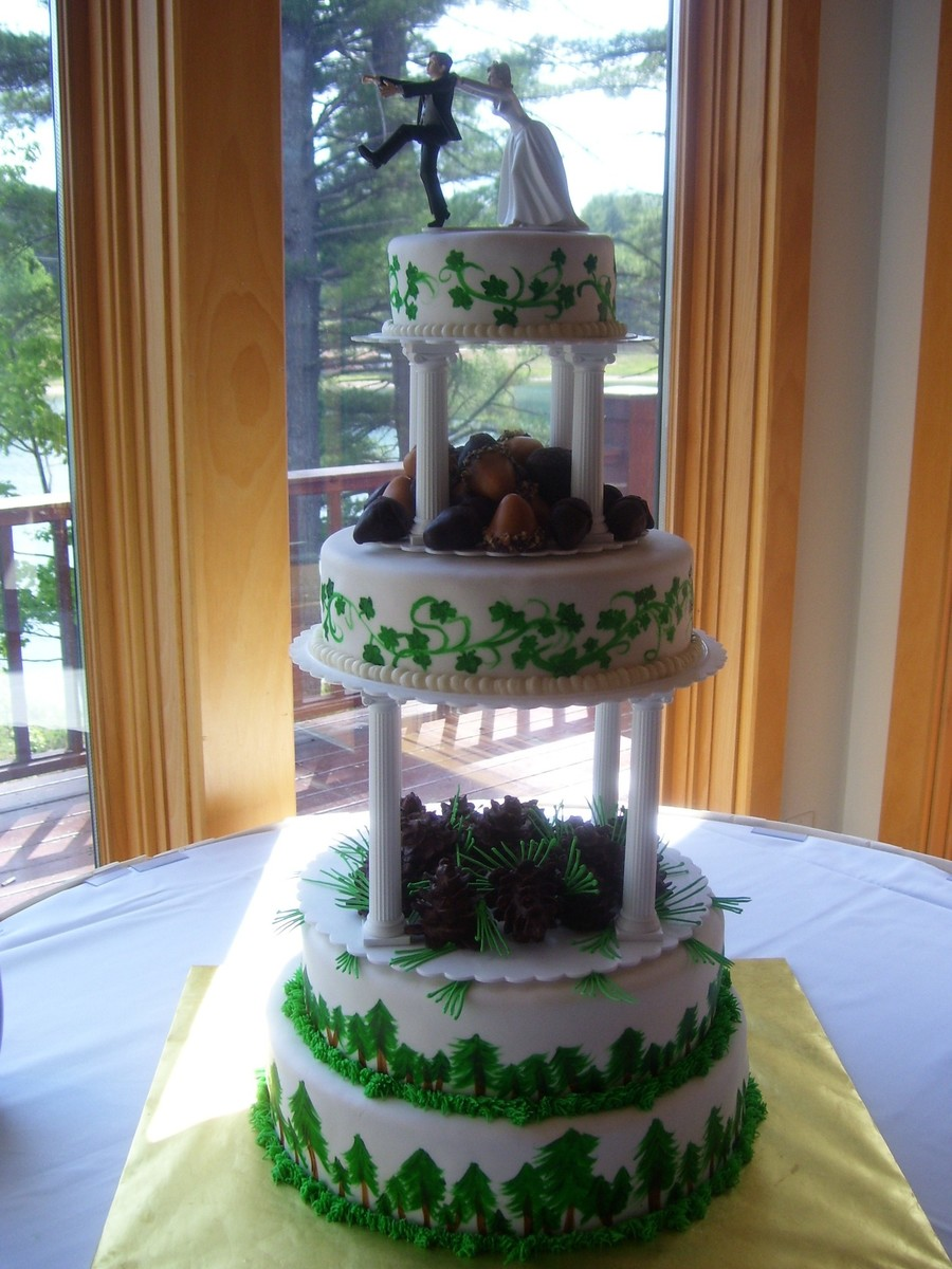 Outdoorsy Wedding  on Cake Central