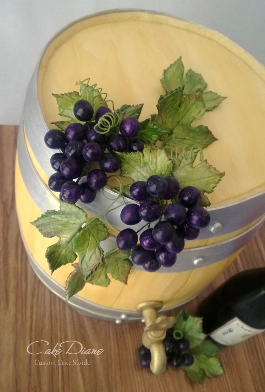 Wine Barrel Cake For A 50th Birthday Celebration At A Wine