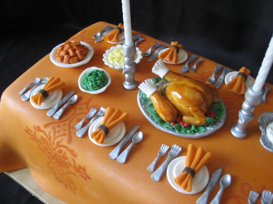 Miniature Thanksgiving Dinner - CakeCentral.com