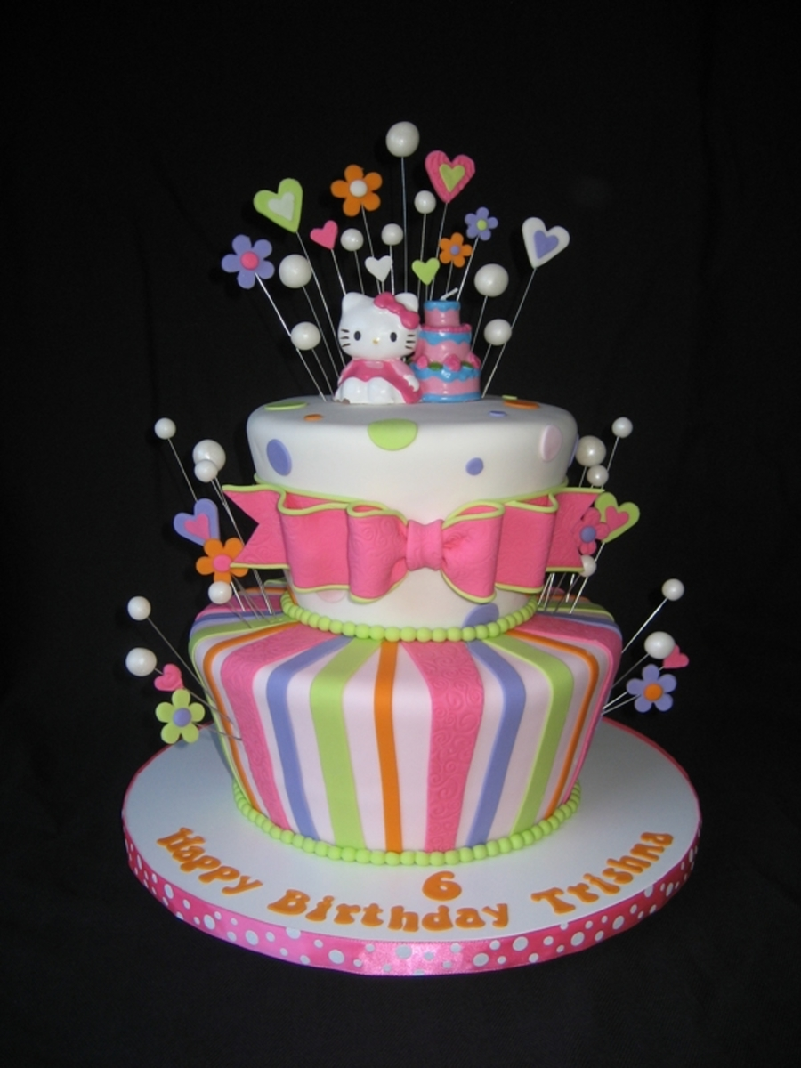 Hello Kitty With Bubbles on Cake Central