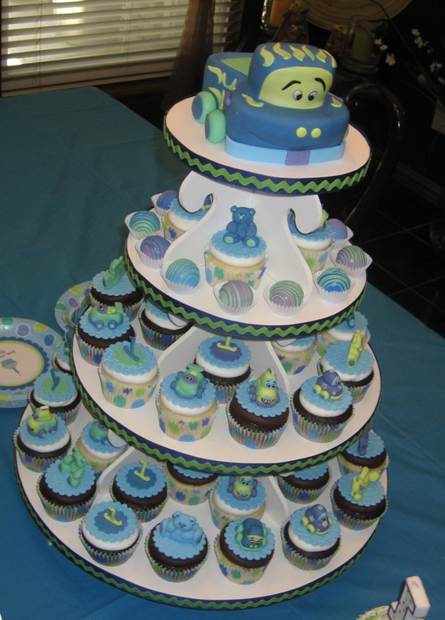 Frog Birthday Cake And Cupcake Ideas