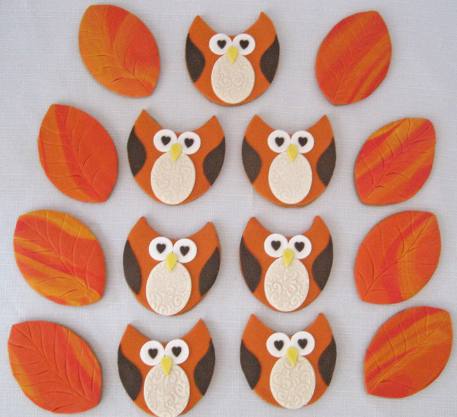 Owls And Fall Leaves Cookies on Cake Central
