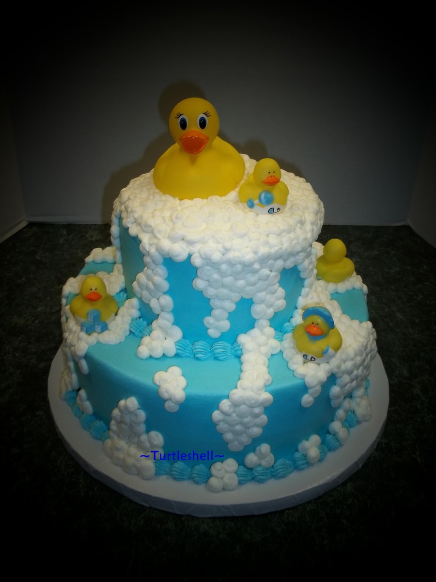 Rubber Duck Baby Shower Cake
