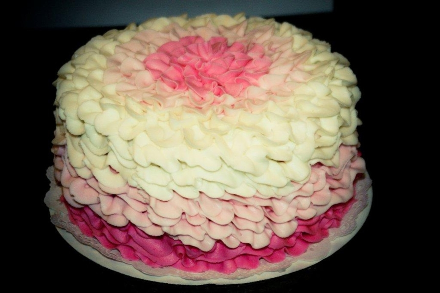 Pink Ombre 2 on Cake Central