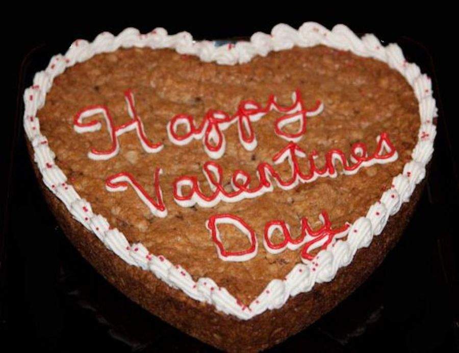 9 Inch Valentine Cookie Cake on Cake Central