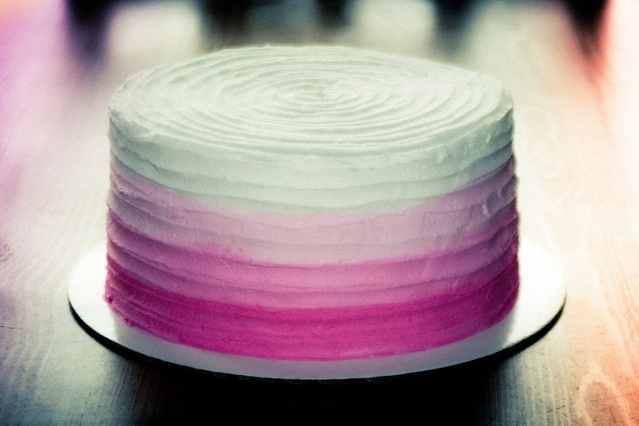Pink Ombre 1 on Cake Central