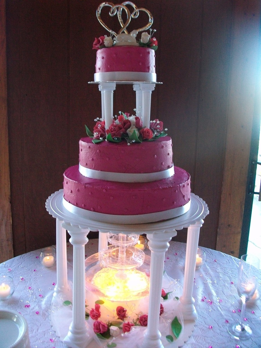Hot Pink Wedding on Cake Central