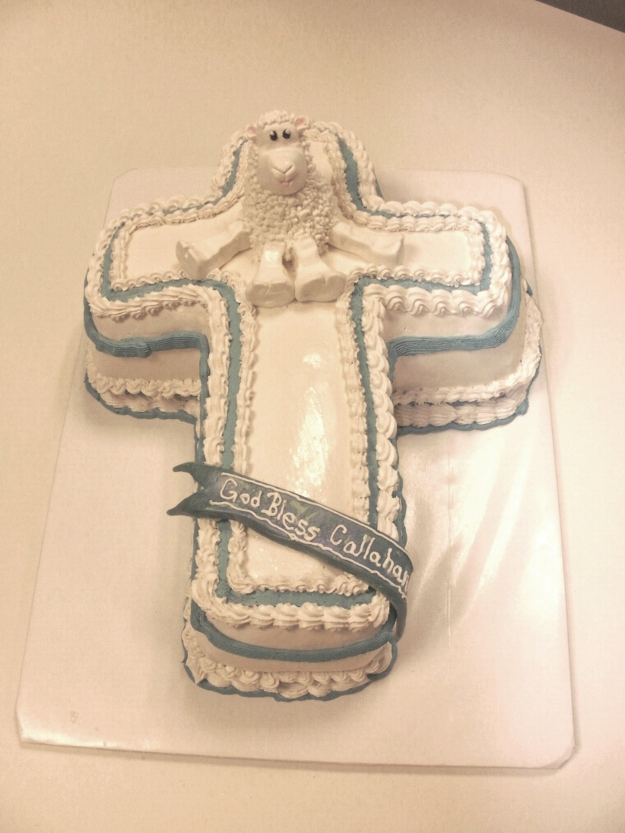 Cross W/ Lamb on Cake Central