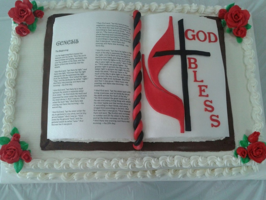 Open Bible Cake Cakecentral Com