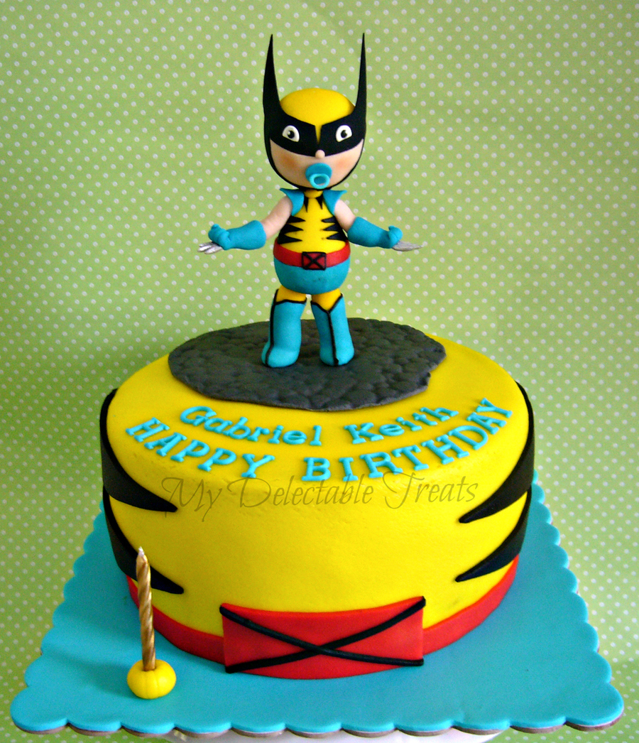 Baby Wolverine Themed Birthday Cake Cakecentral
