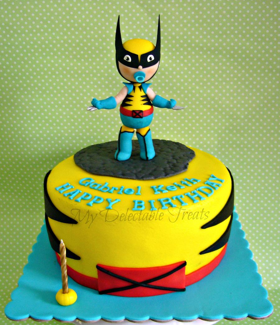 Pleasant Baby Wolverine Themed Birthday Cake Cakecentral Com Personalised Birthday Cards Veneteletsinfo