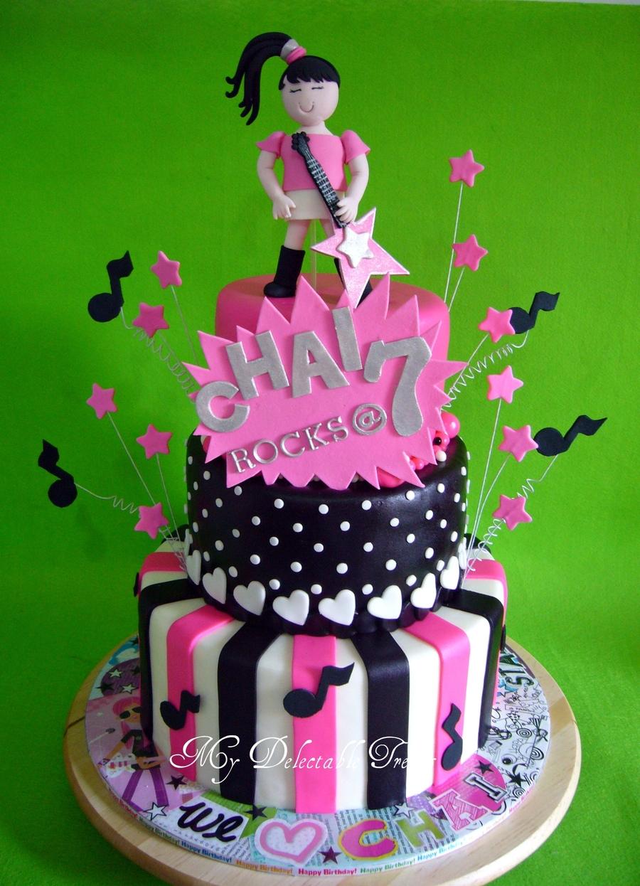 Rock Star Theme Cake Cakecentral Com