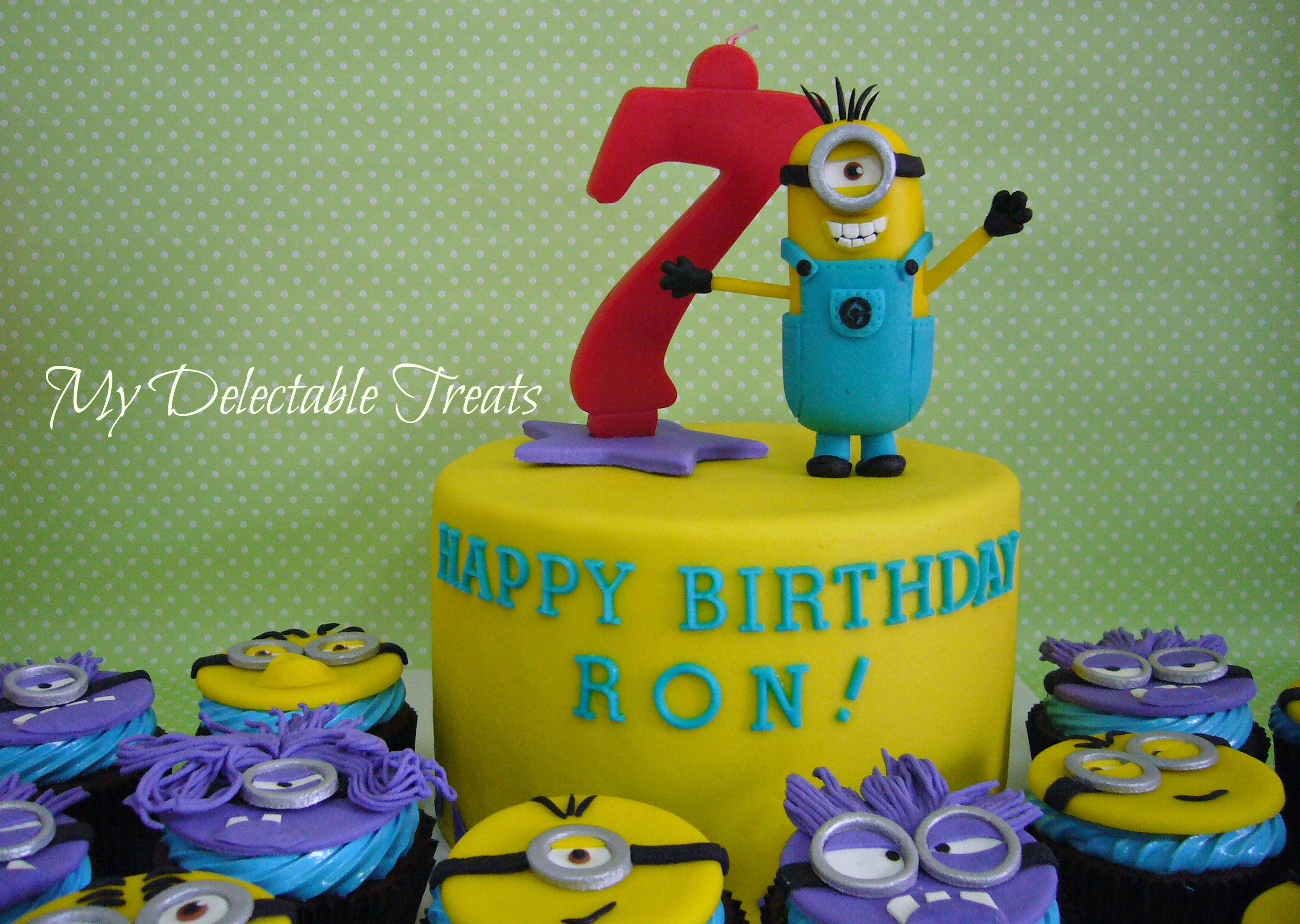 I Enjoyed Making These Guys 3D Minion Figure Was Made Out Of Fondant And The Cupcake Toppers Are Gumpaste Birthday Cakes