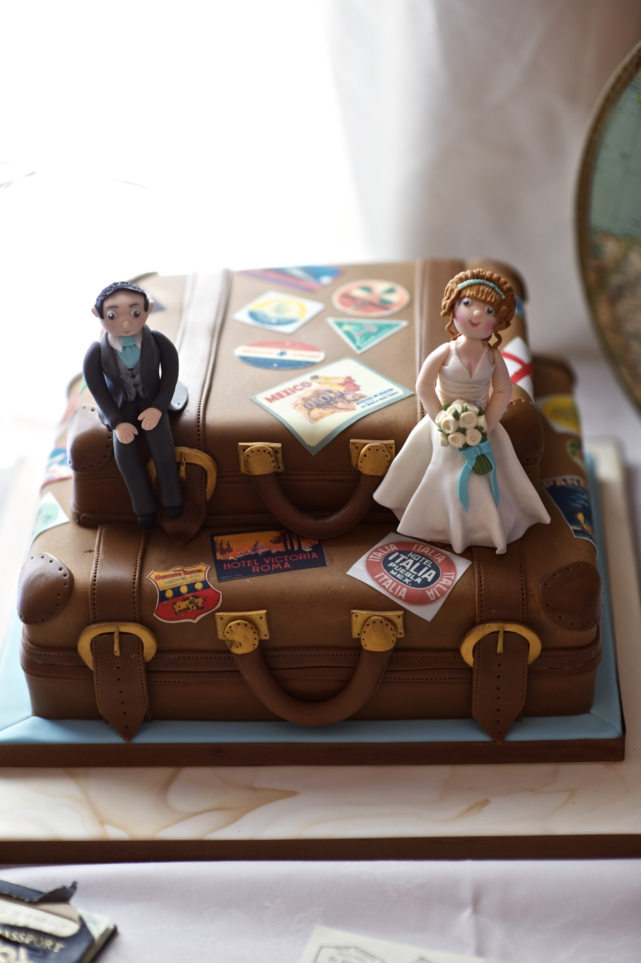 Vintage Suitcase on Cake Central