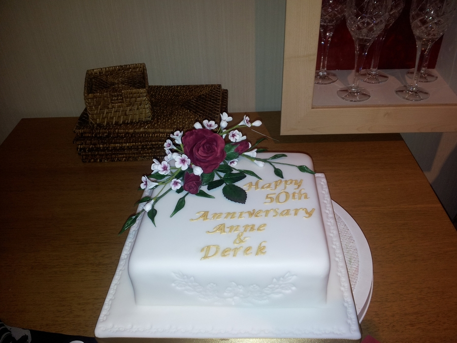 Anniversary Rose Cake on Cake Central