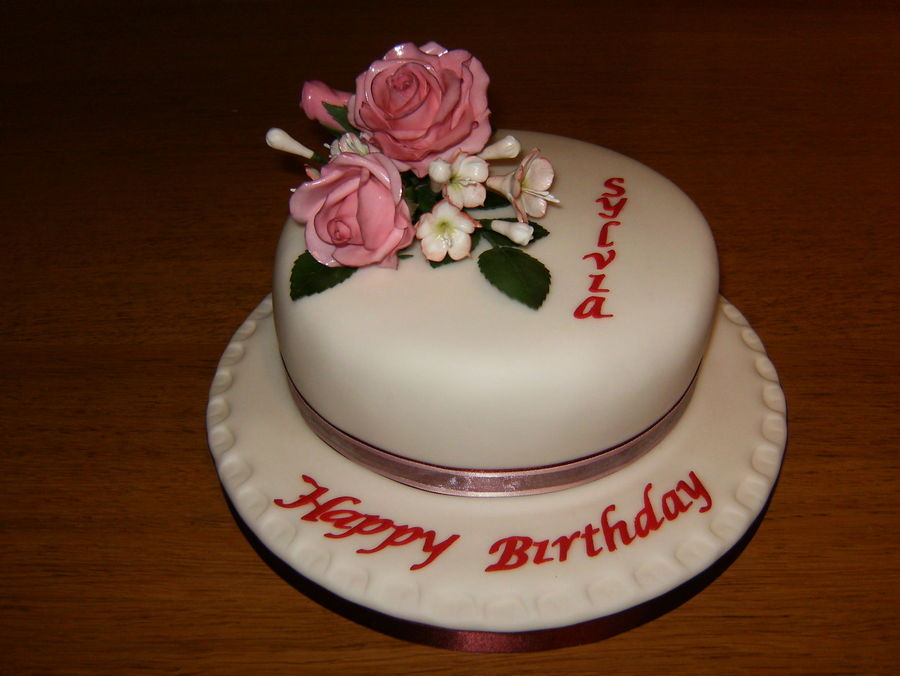 Sylvia's Roses  on Cake Central
