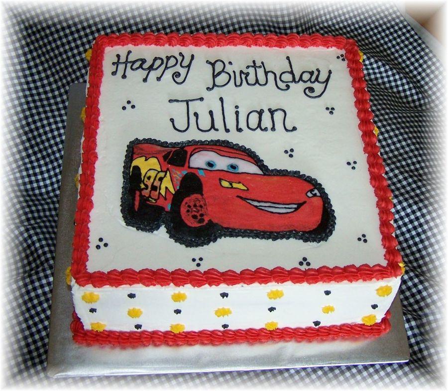 Lightning Mcqueen Cars Cake Fbct CakeCentralcom