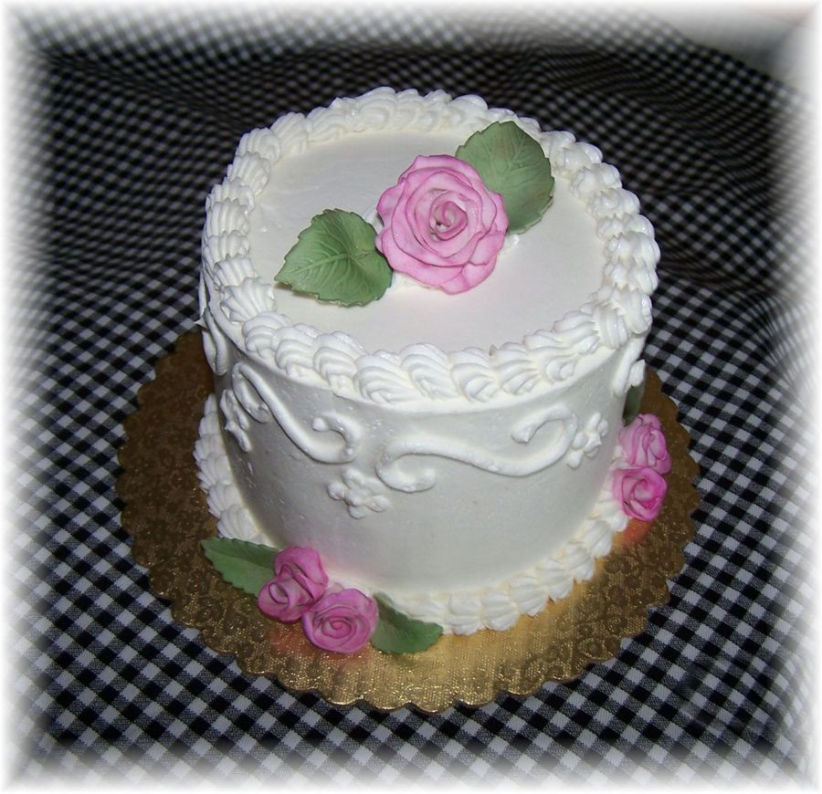 Mini Wedding Cake Sample  on Cake Central