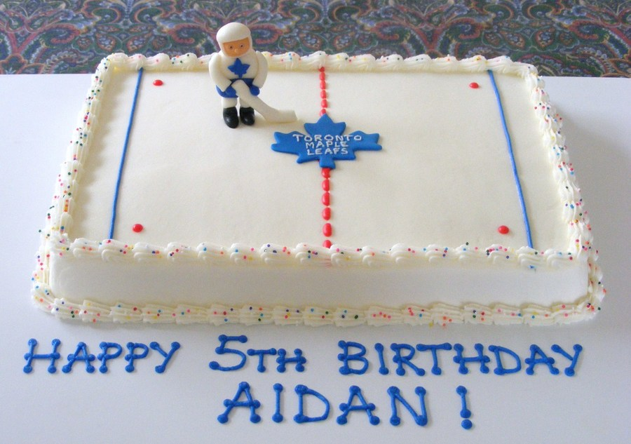 Hockey Player And Rink on Cake Central