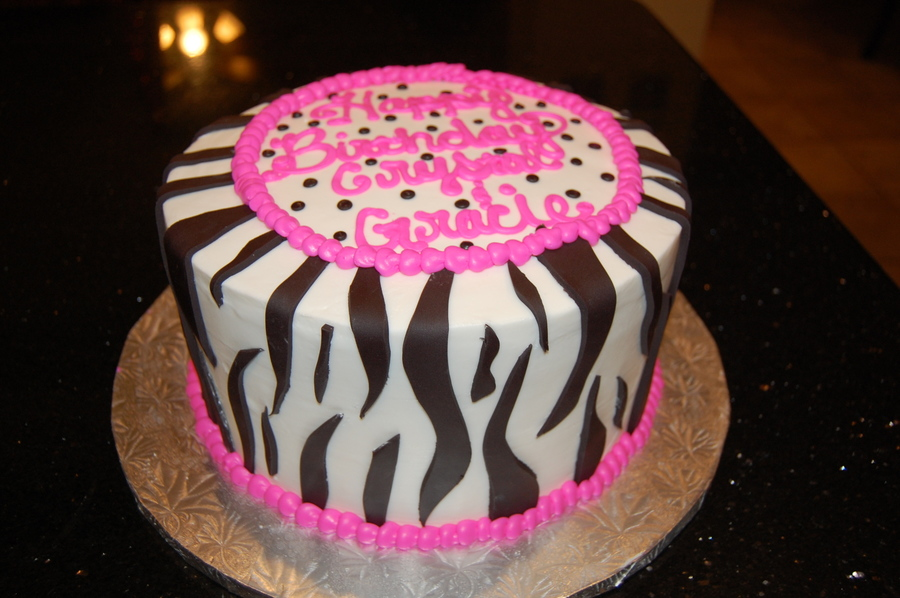 Zebra Stripe / Hot Pink on Cake Central