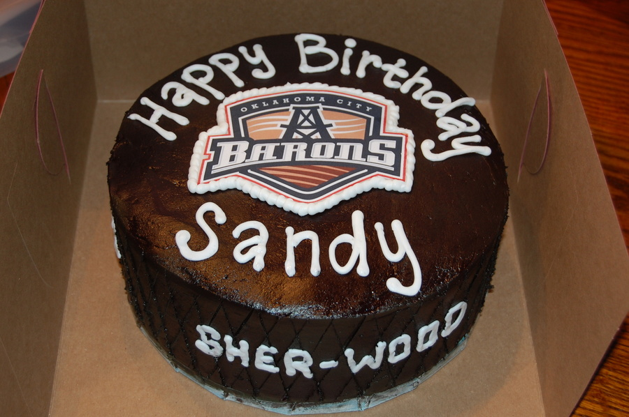 Terrific Okc Barons Hockey Puck Birthday Cake Cakecentral Com Funny Birthday Cards Online Inifofree Goldxyz