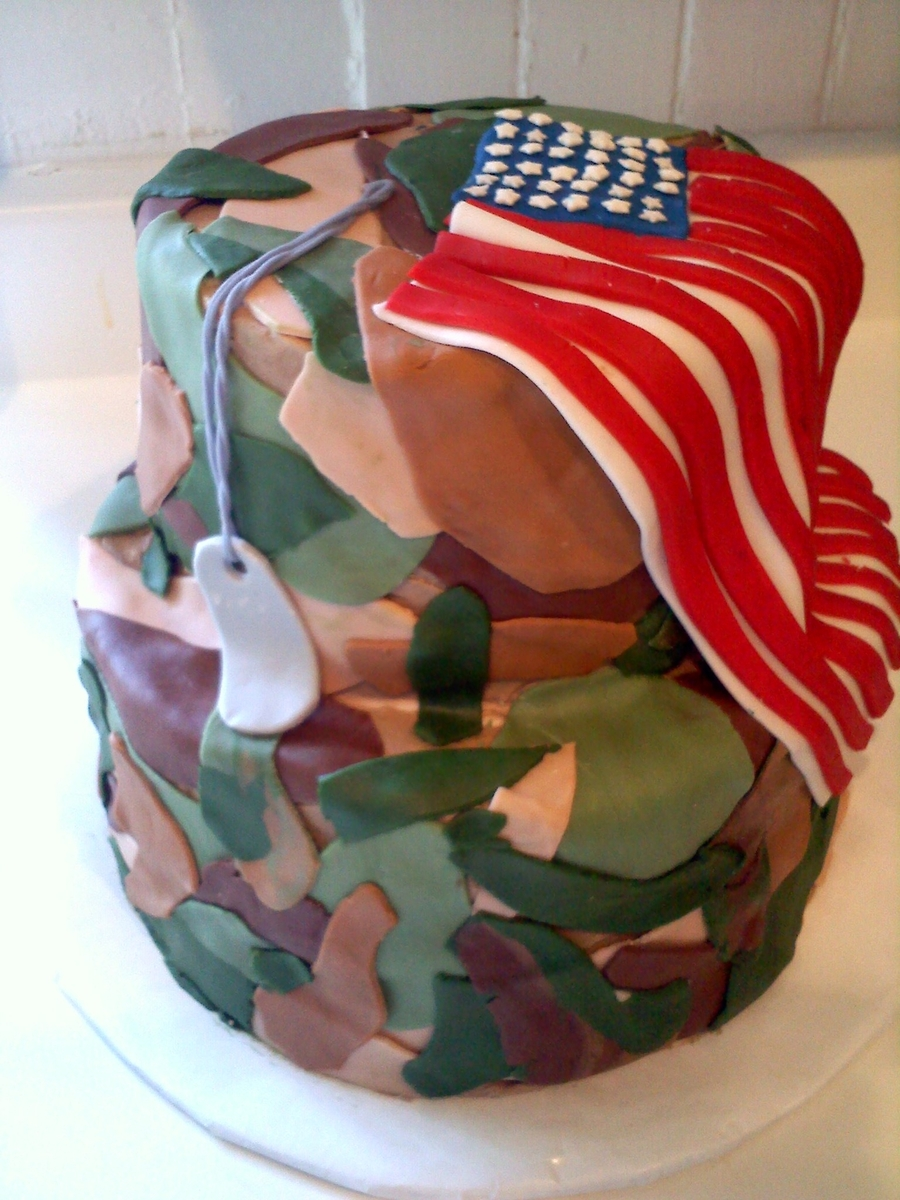 Camouflage Cake on Cake Central