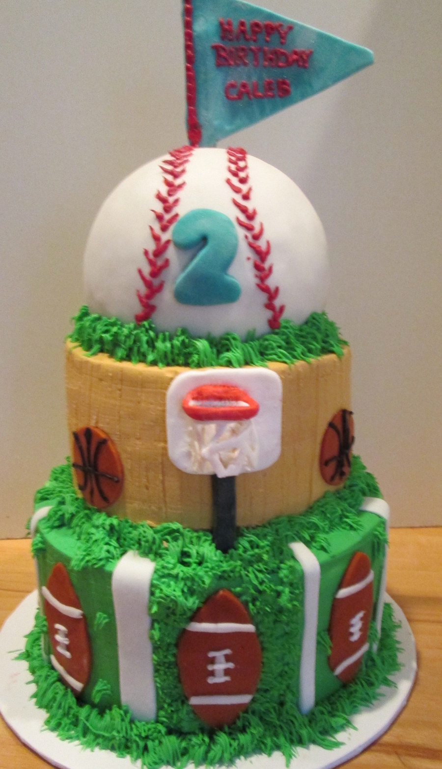 Sports Birthday Cake on Cake Central
