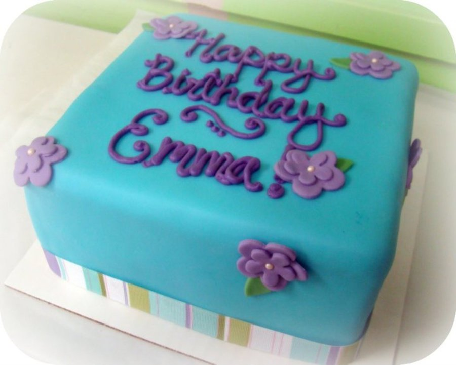 Blue And Purple Birthday Cakecentral